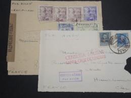 ESPAGNE - 2 Enveloppes ( Devants ) Avec Censures Pour La France - A Voir - L 5932 - Marcas De Censura Nacional