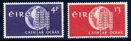 Ireland  Sc#  186-187  MH  Complete Set   1963 - 1949-... Republic Of Ireland