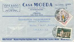 CABO VERDE - PRAIA - 1959 , Letter To Minden - Kap Verde