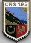 C.R.S. 195  ( ORAN ) - Insigne émaillé  Drago Romainville - Police & Gendarmerie