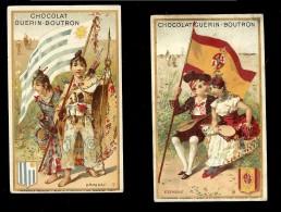2 CHROMOS Chocolat GUERIN BOUTRON ESPAGNE Et URUGUAY - Guérin-Boutron