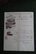 Facture Ancienne, QUILLAN - MOULINES Fils, Grand Hôtel Des Pyrénées, Entreprise De Transports Publics En Automobiles. - France