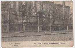 ARRAS. - Maisons En Ruines Boulevard Faidherbe - Weltkrieg 1914-18