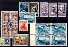 Espagne Petite Collection Neufs **/* Années 30. Bonnes Valeurs. B/TB. A Saisir!