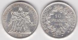 Rare 10 FRANCS HERCULE 1968 Accent Sur Le E En Argent (voir Scan) - K. 10 Francs