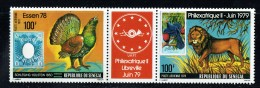 1978  Philexafrique Et ESSEN 78 Bande 2 Timbres + Vignette Animaux, Timbres Sur Timbres ** - Senegal (1960-...)
