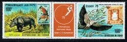 1978  Philexafrique Et ESSEN 78 Bande 2 Timbres + Vignette Animaux, Timbres Sur Timbres ** - Chad (1960-...)
