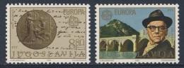 Jugoslavija Yugoslavia 1983 Mi 1984 /5 YT 1867 /8 ** Ivo Andric (1892-1975) Author, Nobel Prize 1961, Nobel Prize Medal - Nobelprijs