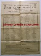 MANIFESTO ORIGINALE CLUB ALPIN FRANCAIS C.A.F. _ 1920 _ GUIDES ET PORTEURS BREVETES _ Alpes _ ALPINISMO _ ALPI - Manifesti