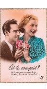 Carte Postale Ancienne Fantaisie -  Couple - Amoureux - Fantaisies