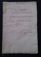 Document Notarié Du 20 Novembre 1779 Aux Créanciers De Leurs Successions - Documents Historiques
