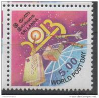 SRI LANKA, 2013, MNH, WORLD POST DAY, 1v - Post