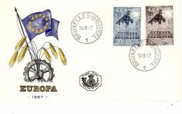 BELGIUM 1957 EUROPA CEPT FDC - Europa-CEPT