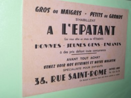 BUVARd A L EPATANT 36 Rue Saint ROME Toulouse - Buvards, Protège-cahiers Illustrés