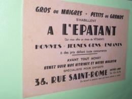 BUVARd A L EPATANT 36 Rue Saint ROME Toulouse - Carte Assorbenti