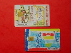 2 Télécartes France Et Monaco 1996 Et 1999 - Tarjetas Telefónicas