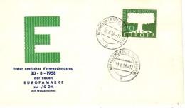 GERMANY 1958 EUROPA CEPT FDC - Europa-CEPT
