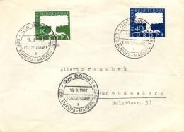 GERMANY 1957 EUROPA CEPT FDC ( Bonn 1 A ) - Europa-CEPT