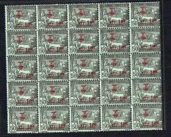 1923  Pour Les Mutilés De Guerre Yv 90  Bloc De 25  ** - Tunisie (1888-1955)