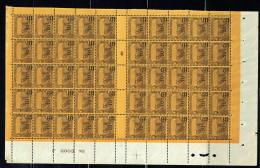 1928  10 C Sur 15 C. Laboureurs   Bloc De 50 Millésime Et Bas De Page ** - Tunisie (1888-1955)