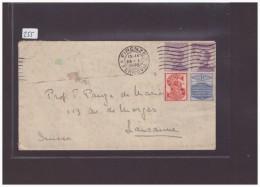 ITALIE - TIMBRES AVEC TABS PUBLICITAIRES SUR LETTRE POUR LA SUISSE - 1900-44 Vittorio Emanuele III