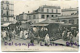 - 97 - ALGER - Place Randon, Belle Animation, Le Marché, étalages, Pastèques, écrite, BE, Scans. - Alger