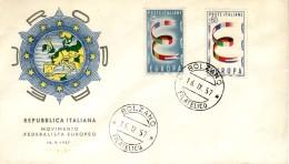ITALY 1957 EUROPA CEPT  FDC ( Bolzano ) - Europa-CEPT