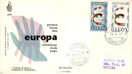 ITALY 1957 EUROPA CEPT  FDC ( Roma ) - Europa-CEPT