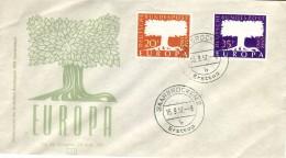 SAAR 1957 EUROPA CEPT FDC ( Saarbrucken 2 B ) - Europa-CEPT