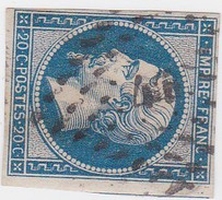 N° 14 B    PC  447   BOUGE-CHAMBALUD   /   ISERE    LOT  10334    INDICE 12 COTE 80 € + VARIETE - 1853-1860 Napoléon III