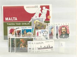 1986 MNH Malta, Year Complete According To Michel, Postfris - Malta
