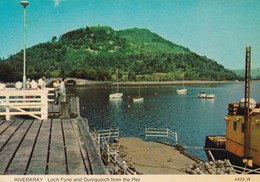 INVERARAY LOCH FYNE  AND DUNIQUOICH FROM THE PIER (dil293) - Scotland