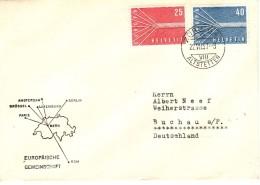 SWITZERLAND 1957  EUROPA CEPT  Set On Commemorative Cover - Europa-CEPT