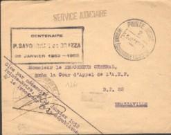 Pointe Noire - Lettre Pour La France Centenaire Savorgnan De Brazza 25 Janvier 1952 - Covers & Documents