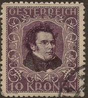 AUSTRIA 1921 10k Schubert P11.5 SG 522 U #XA344 - Oblitérés