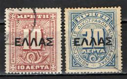 CRETA - 1910 - CIFRA CON SOVRASTAMPA - OVERPRINTED - USATI - Creta