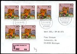 Bund USo5 AIIY Umschlag WERTBRIEF ERSTTAG Schweiz  2.11.1998 - Covers - Used