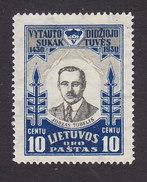 Lithuania, Scott #C41, Mint No Gum, Juozas Tubellis, Issued 1930 - Lithuania