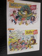 Vintage 2 Sticker S  Publicité Autocollant Publicitaire CLUB MAX  VALENTON 94  DECEMBRE 1991 ET 92  Publicité  Autocolla - Autocollants