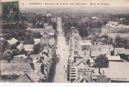 22 LOUDEAC  Vue Panoramique Sur La VILLE  Maisons Et Route De PONTIVY Timbre 1917 - Loudéac