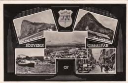Gibraltar Souvenir With Multi View Real Photo - Gibraltar