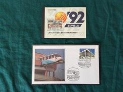 Busta FDC Expo '92 Con Annullo 1° Giorno E Foglietto Con 1 Valore - FDC