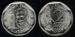 """FRANCIA / FRANCE  2  FRANCOS 1.995  Niquel  KM#1119  """"Louis Pasteur""""  SC/UNC      DL-9457 - Francia"""