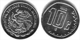 Mexico 10 Centavos 1.998 Acero KM#547 SC/UNC    T-DL-11.653 - México