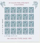 BLOC SAGE DU SALON D'AUTOMNE 2016 - Souvenir Blocks