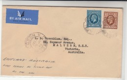 G.B. / Airmail / Imperial Airways / First Flights / Australia / Flying Boats - 1902-1951 (Kings)