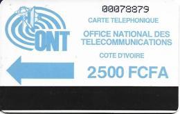 @+ TC Autelca ONT (Ancien Logo) De Cote D'Ivoire - 2500FCFA - 1ere Serie - Côte D'Ivoire