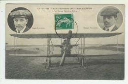 80  LE CROTOY  Ecole D'Aviation Des Freres Caudron Le Biplan (voir Scan Du Dos) - Le Crotoy