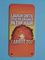 LUXOR Las VEGAS - California ( Publicity Carrot Top / Zie Foto Voor Detail ) U.S.A. ! - Cartes D'hotel