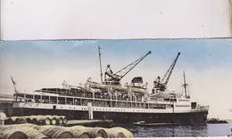 CPM PANORAMIQUE , ALGER, PAQUEBOT LE PRESIDENT DE CAZALET - Steamers